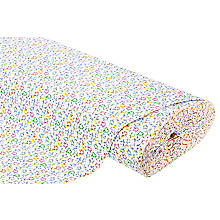 Tissu jersey en coton 'étoiles' avec de l'élasthanne, blanc/multicolore