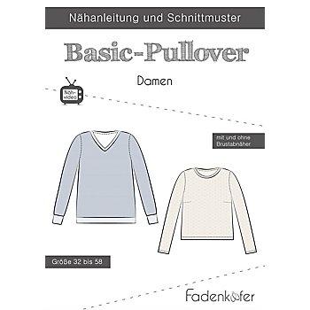 Fadenkäfer Schnitt 'Basic-Pullover' für Damen