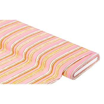 Viskose-Blusenstoff / Javanaise 'Streifen', rosa-color