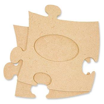 Cadre 'puzzle', ovale, 12 x 12 cm