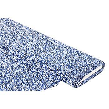 Viskose-Blusenstoff / Javanaise 'Blumen', royalblau/weiss