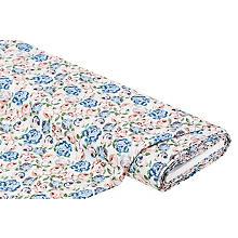 Viskose-Blusenstoff 'Rosen' in Leinenoptik, hellmint-color