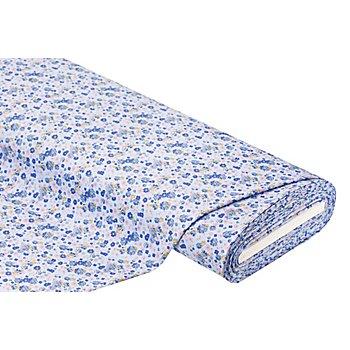Elastik-Jersey 'Blümchen', hellblau-color