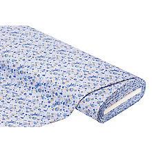 Tissu jersey 'fleurs', bleu clair/multicolore