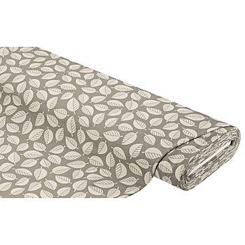 Sweatstoff 'Blätter', grau-color