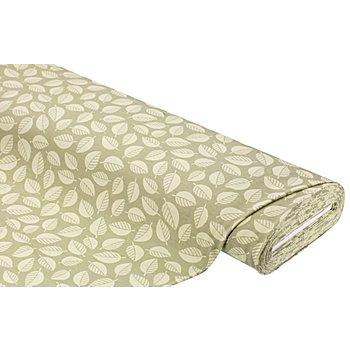Tissu sweat-shirt 'feuilles', vert/multicolore