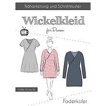 Fadenkäfer Schnitt 'Wickelkleid' für Damen