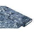 "Blusenstoff ""Paisley & Blumen"", jeansblau"