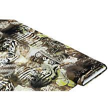 Zarter Viskose-Crêpe 'Tiger', braun/grün