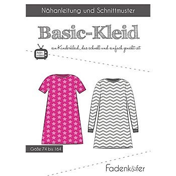 Fadenkäfer Schnitt 'Basic-Kleid' für Kinder