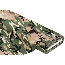 Baumwolljersey 'Camouflage' mit Elasthan, grün-color