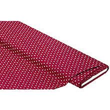Baumwoll-Trachtenstoff 'Tulpe', bordeaux-color