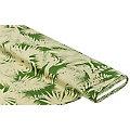 """Tissu satin pour blouses """"feuilles"""", vert/beige"""