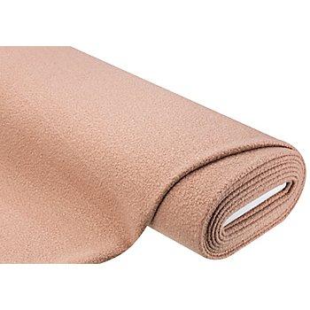 Tissu pour manteaux 'bouclé', vieux rose