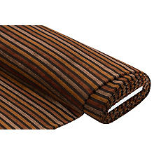 Tissu maille avec rayures en chenille, marron/multicolore