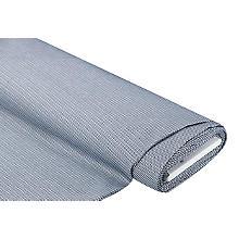 Stretch-Webstoff 'Treppenmuster', blau/weiß