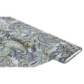 Tissu pour blouses 'paisley', bleu clair/multicolore