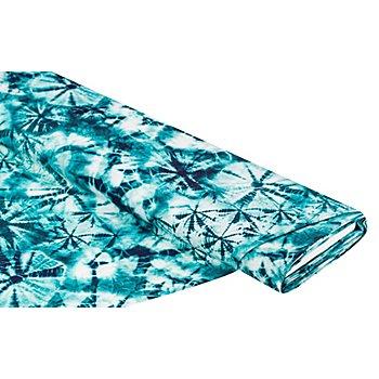 Bademodenstoff 'Batik' für Badeshorts, petrol-color