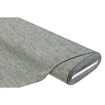 Tissu maille côtelé, vert olive/blanc