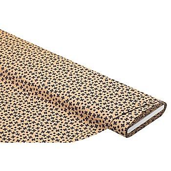 Tissu pour blouses avec modal 'petites fleurs', taupe/multicolore