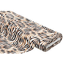 Sweat / French Terry 'Zebra', creme/braun