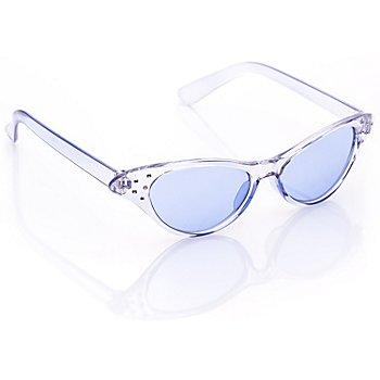 50er Jahre Brille, blau