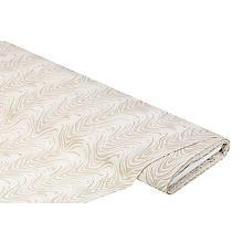 Baumwoll-Blusenstoff 'Zebra' mit Stretch, creme/beige