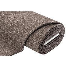 Tissu pour manteau en laine bouclé, noir/blanc cassé