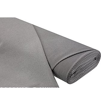 Tissu jersey romanite double-face 'pois/rayures', gris