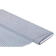 Baumwoll-Blusenstoff / Popeline 'Krawattenmuster', hellblau-color