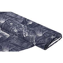Baumwolljersey 'Jeans-Print' mit Elasthan, blau-color