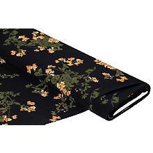 Crêpe 'Blumen', schwarz-color