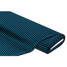 Elastik-Jersey 'Streifen', petrol/schwarz