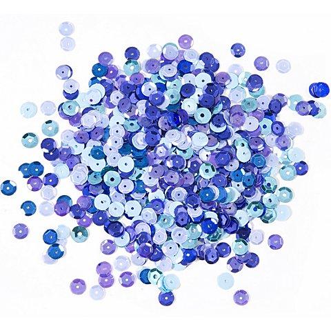 Image of Pailletten, Blautöne, 6 mm Ø, 30 g