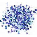 Pailletten, Blautöne, 6 mm Ø, 30 g
