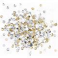 Pailletten, gold-silber-weiß, 6 mm Ø, 30 g