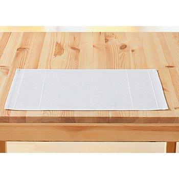 buttinette Tischset, weiß
