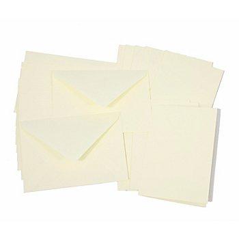 Set de 10 cartes doubles et enveloppes, crème, A6/C6