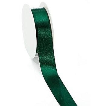 Ruban satin 25 mm, vert foncé, 10 m