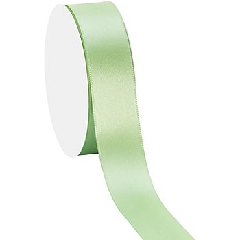 Satinband, hellgrün, 25 mm, 10 m