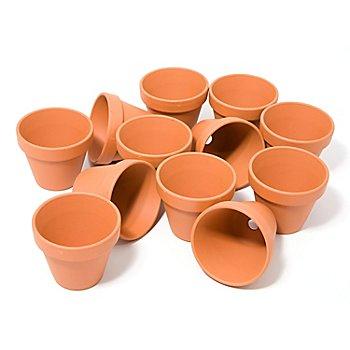 Tontöpfe aus Terrakotta, 7 cm hoch, 8 cm Ø, 12 Stück