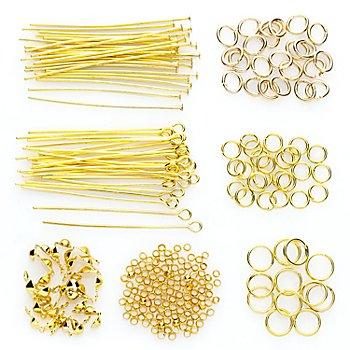 Set d'accessoires pour création de bijoux, or