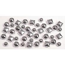 Rivets décoratifs, couleur argent, 5 - 6 mm, 300 pièces