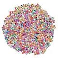Perles de rocaille, tons pastel, 2,5 mm Ø, 100 g