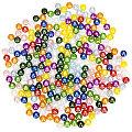 """Perles nacrées en acrylique """"multicolores"""", 6 mm, Ø 25 g"""