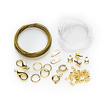 Set d'accessoires pour la confection de colliers/bracelets, or