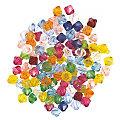 Perles acryliques à facettes, multicolore, 6 mm, 50 g