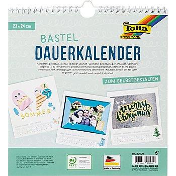 Folia Foto-, Mal- und Bastelkalender, weiss, 23 x 24 cm