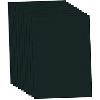 Carton teinté noir, 50 x 70 cm, 10 feuilles
