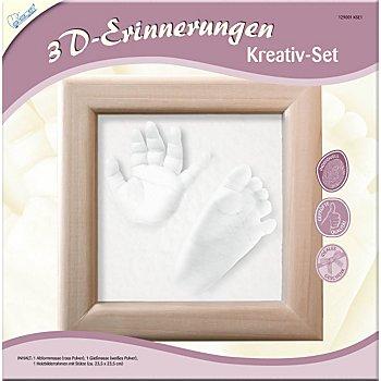 Kit créatif moulage 3D 'empreintes bébé'